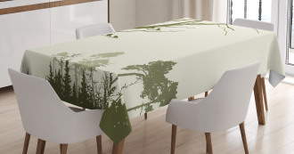 Forest Birds on Tree Tablecloth
