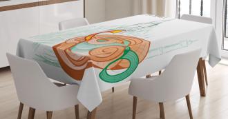 Sketchy Diwali Festive Tablecloth