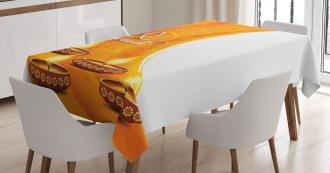 Diwali Candle Celebrate Tablecloth