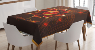 Beams and Diwali Wishes Tablecloth
