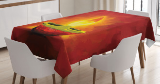 Oil Painting Candle Tablecloth