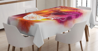 Brushstroke Festive Candle Tablecloth