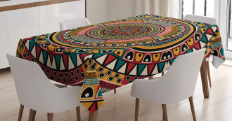 African Ethnic Color Art Tablecloth