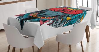 Wolf Animal Theme Tablecloth