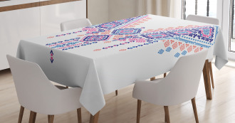 African Geometric Design Tablecloth