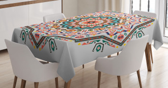 Abstract Sun Aztec Style Tablecloth