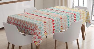 Boho Stripes and Shapes Tablecloth