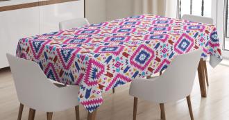 Hand Drawn Mayan Sripes Tablecloth