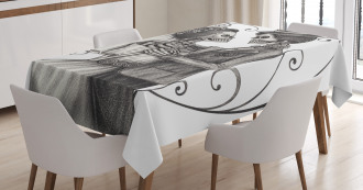 Skeleton Marriage Tablecloth