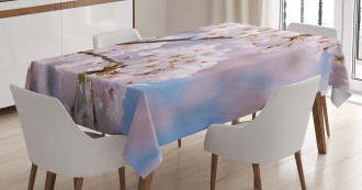 Floral Cherry Branches Tablecloth