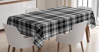 British Tartan Pattern Tablecloth