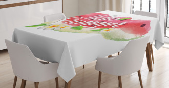 Summer Welcome Quote Tablecloth