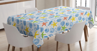Marine Themed Starfish Tablecloth