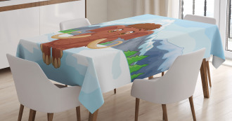 Baby Ice Snowy Mountain Tablecloth