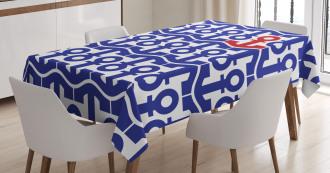 Ship Journey Sea Ocean Tablecloth