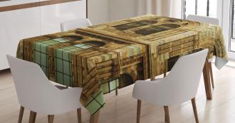 European City Building Tablecloth