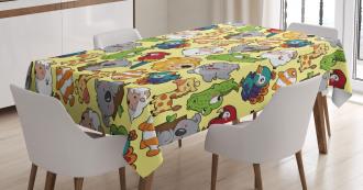 Hippo Giraffe Koala Tablecloth