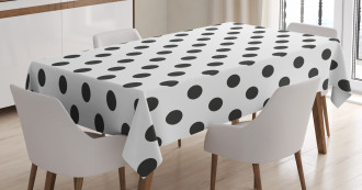 Nostalgic Polka Dots Art Tablecloth