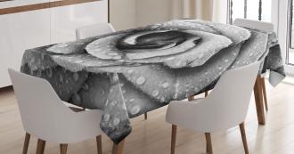 Retro Romance Rose Petal Tablecloth
