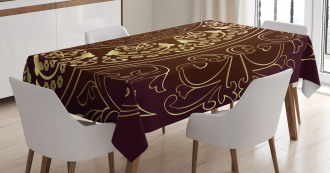 Vintage Ethnic Asian Tablecloth