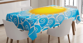 Holiday Joy Ocean Sea Tablecloth