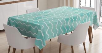 Ocean Sea Wave Pattern Tablecloth