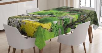 Japanese Park Landscape Tablecloth