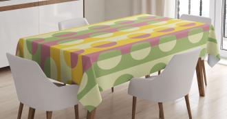 Retro Geometric Stripe Tablecloth