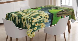 Flower Garden Grass Park Tablecloth