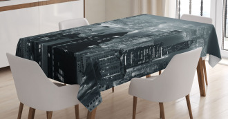 Aerial Night Landscape Tablecloth