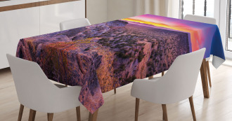 Sunrise Sky Horizon Dusk Tablecloth
