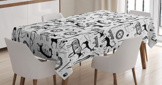 African Pattern Animal Tablecloth