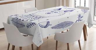 Fox with Hearts and Beam Tablecloth