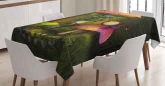 Giant Mushroom and Elve Tablecloth