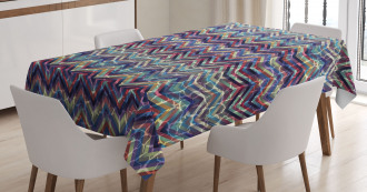 Abstract ZigZag Chevron Tablecloth