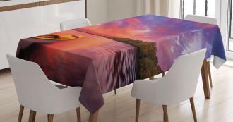 Sea Coast with a Rowboat Tablecloth