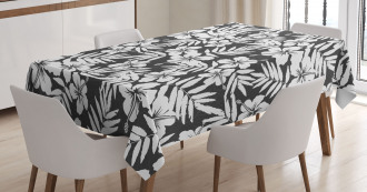 Exotic Hibiscus Flower Tablecloth