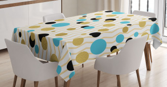 Trippy Geometric Round Tablecloth