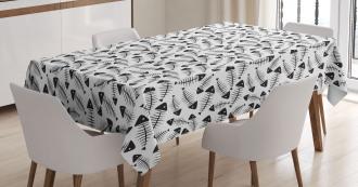 Funny Fish Bone Abstract Tablecloth