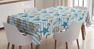 Anchor Wheel Starfish Tablecloth