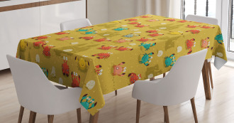 Crab Shell Sand Castle Tablecloth