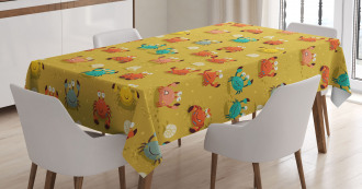 Star and Shells Pattern Tablecloth