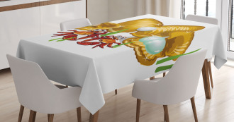 Illustration of Crabs Tablecloth