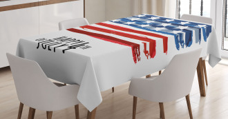 Artistic US Flag Tablecloth