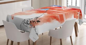 Watercolor Historic Tablecloth