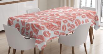 Hot Retro Lady Lips Tablecloth