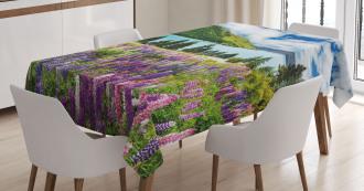 Lake Floral Petals Tablecloth