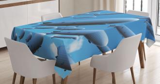 Sky Aviation Flight Tablecloth