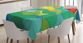 Sea Marine Waves Funky Tablecloth