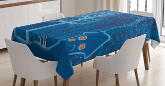 Winter Scenery with Show Tablecloth